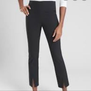 Athleta Black Wander Slim Straight Crop Pants 4T